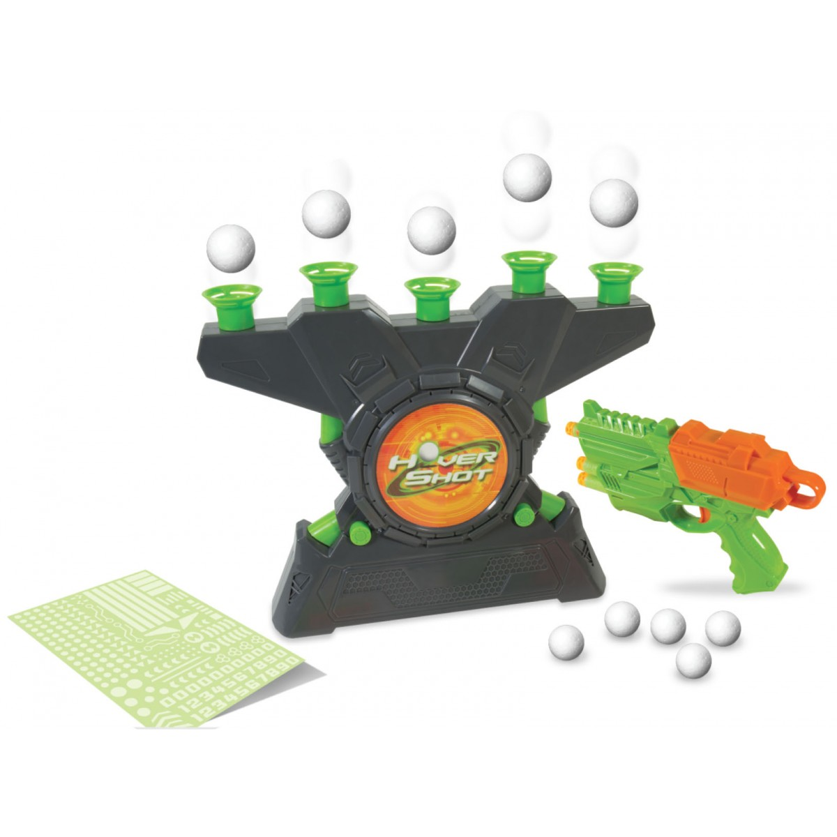air powered blaster Hover Shot 2.0 Game foam darts with glow in the dark