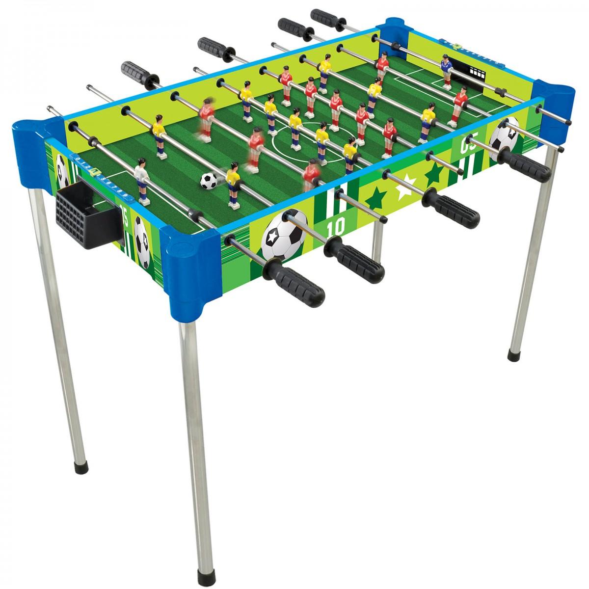 32u201d Triple Play Wood Foosball Table U0026 Tabletop (+Ping Pong + Slide Hockey)
