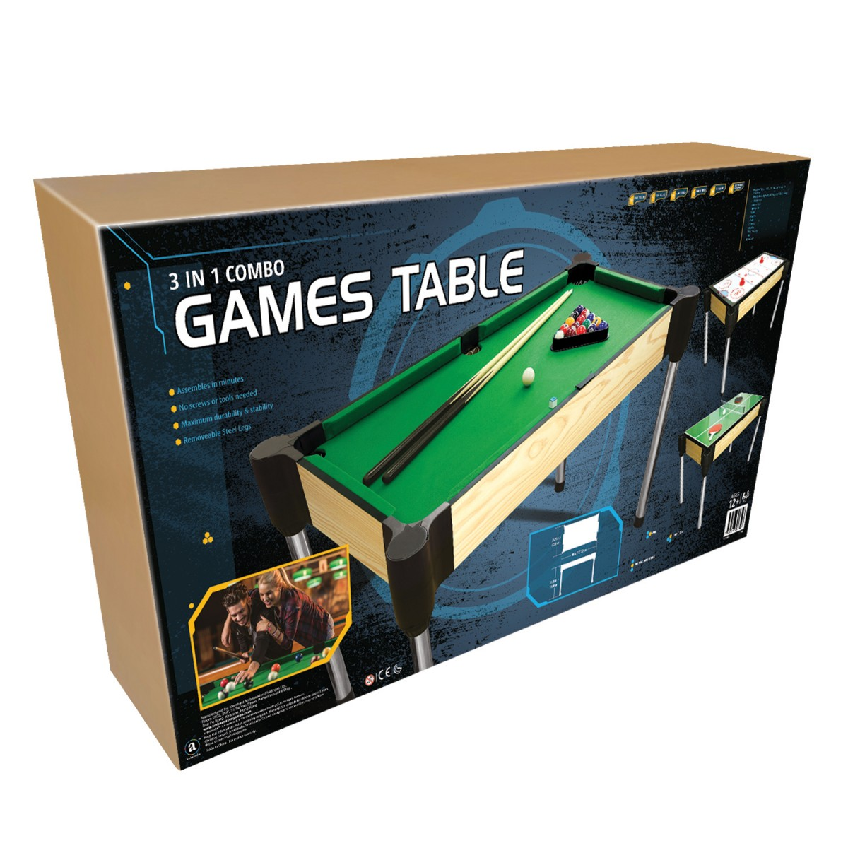 Cm In Table Pool Table Tennis Ping Pong Slide Hockey - Table tennis and billiards table