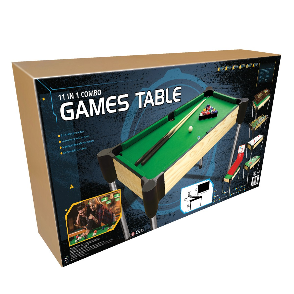 48 122cm 11 in 1 games table pool basketball table for 11 in 1 game table