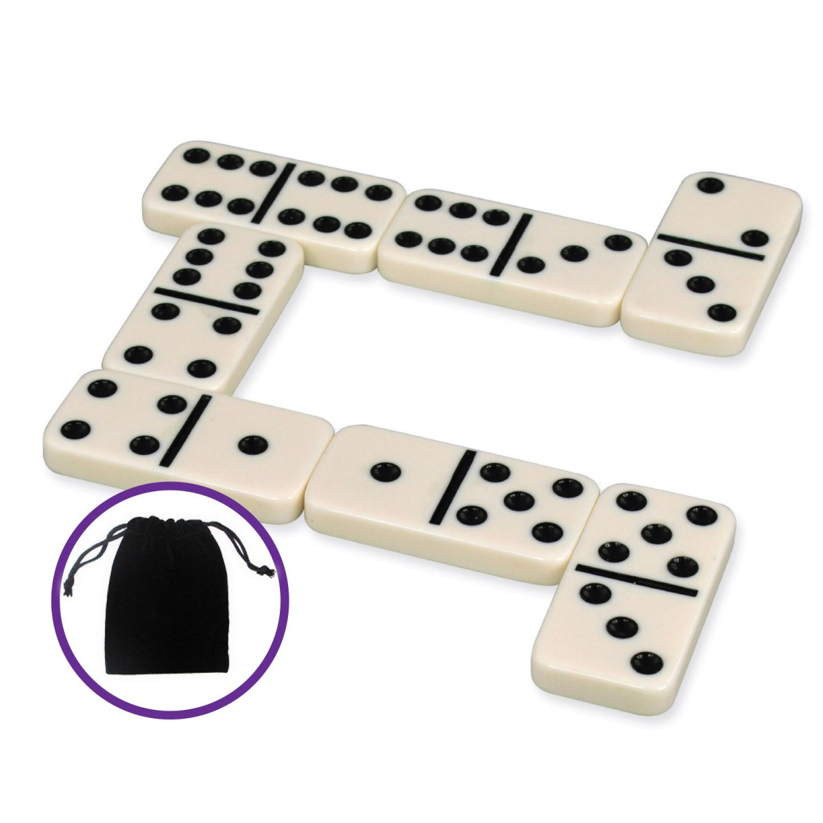 Classic Games Collection Dominoes With Travel Pouch Classic Games