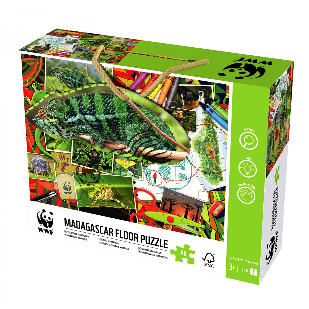 WWF Madagascar Floor Puzzle