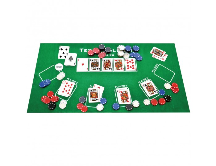 ProPoker 200 Poker Chips With Felt Mat & DVD