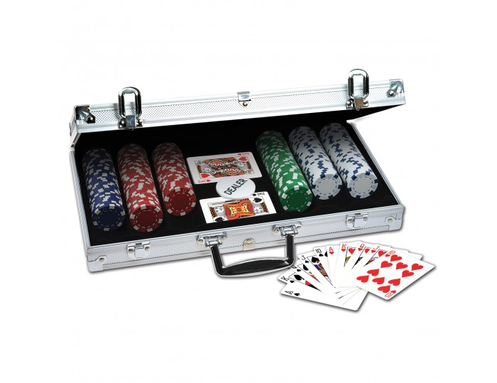 ProPoker 300 11.5g Poker Chips In Aluminum Case with DVD
