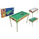"32"" Triple-Play Wood Pool Table & Tabletop (+Ping Pong + Slide Hockey)"