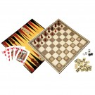 Classic Games Collection - 6 DELUXE GAMES (Real Wood Pieces)
