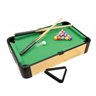 "20"" Triple-Play Wood Tabletop Pool (+Ping Pong + Slide Hockey)"