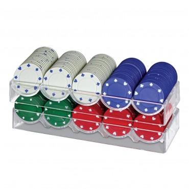 ProPoker 200 Poker Chips In Tin Case With Felt Mat & DVD