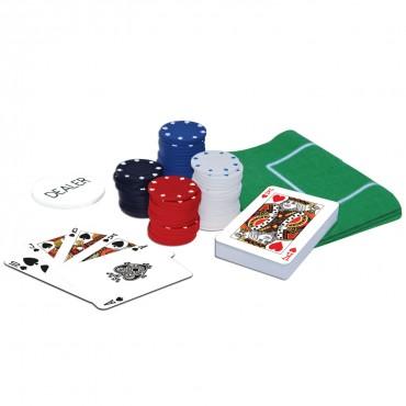 ProPoker 120 Poker Chips With Felt Mat