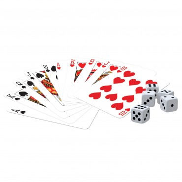 Classic Games Collection - 2 Decks Playing Cards & 5 Dice
