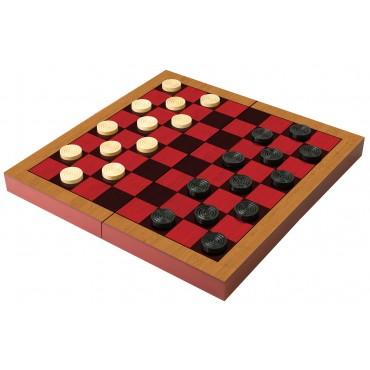 Folding Wood Checkers Set
