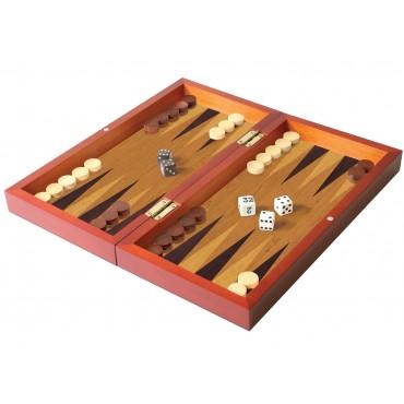 Folding Wood Backgammon Set