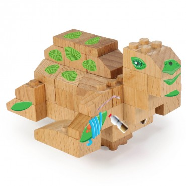 WWF Wood Brick Collectible Figures - Sea Turtle