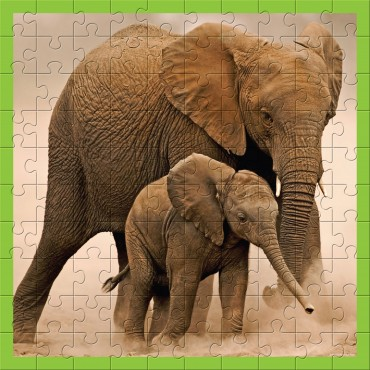 WWF Animal 100 pc puzzles - Baby Elephant