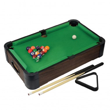 """20"""" 5-in-1 Wood Tabletop Pool (+Ping Pong + Chess + Checker + Backgammon)"""