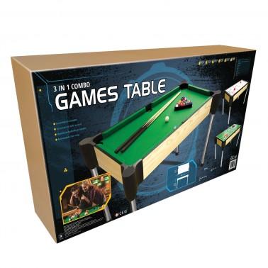 "48"" (122cm) 3-in-1  Table (Pool, Table Tennis (Ping Pong), Slide Hockey)"
