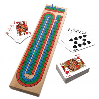 Deluxe Wood Cribbage in Gift Box