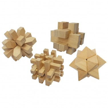Classic Games Collection - Wood Brain Benders (4 Puzzles)