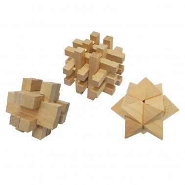 Classic Games Collection - Wood Brain Benders (3 Puzzles)