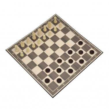 Classic Games Collection - Wood Chess & Checkers