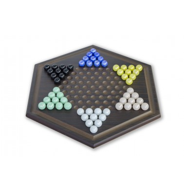 CRAFTSMAN Natural Wood Veneer Deluxe Chinese Checkers Set