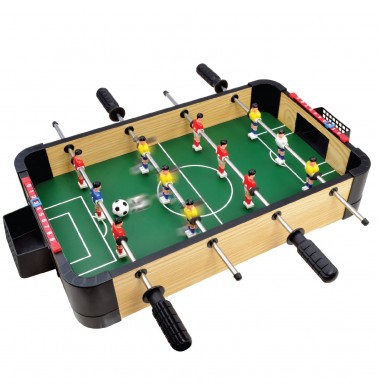 "20"" Triple-Play Wood Tabletop Foosball (+Ping Pong + Slide Hockey)"