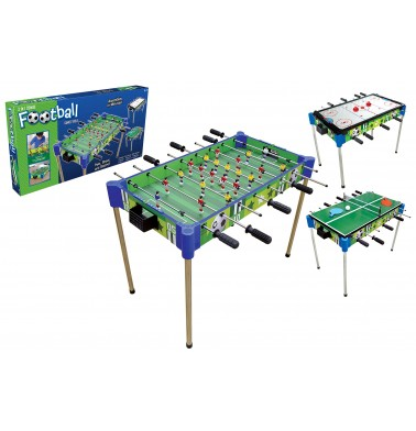 "32"" Triple-Play Wood Foosball Table & Tabletop (+Ping Pong + Slide Hockey)"