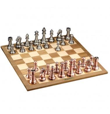 KASPAROV Grandmaster Silver & Bronze Chess Set
