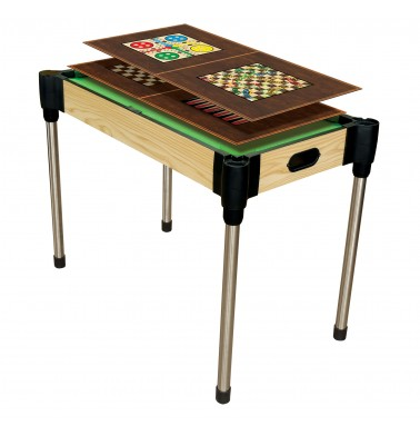 "36"" (92cm)  10-in-1  Games Table (Pool, Basketball, Table Tennis (Ping Pong), Slide Hockey + 6 board games)"