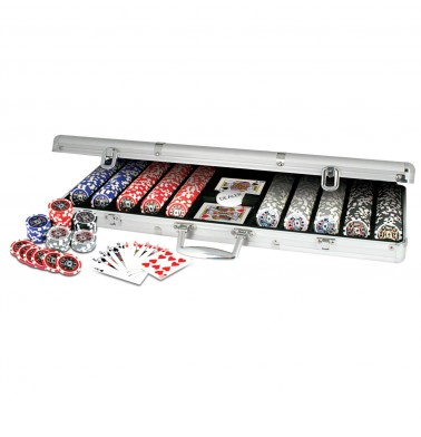 ProPoker 500 11.5g Laser Poker Chips In Aluminum Case
