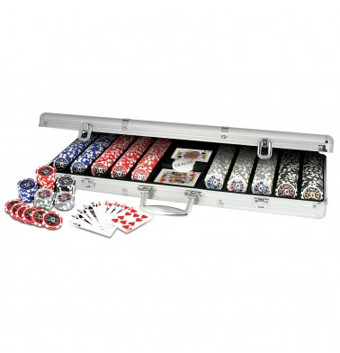ProPoker 500 11.5g Laser Poker Chips in Real Aluminum Case With DVD