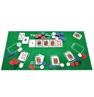 ProPoker 200 Poker Chips With Felt Mat