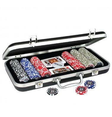 ProPoker 300 11.5g  Poker Chips In Black Aluminum Case