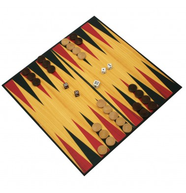 Deluxe Wood Backgammon in Gift Box
