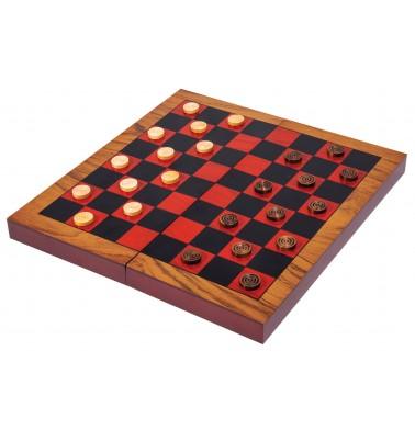 Folding Wood Backgammon & Checkers Set