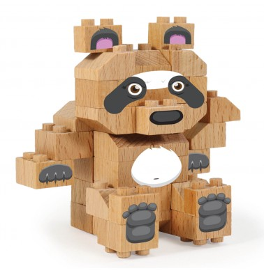 WWF Wood Brick Collectible Figures - Panda