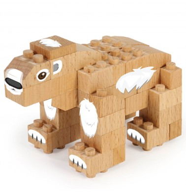 WWF Wood Brick Collectible Figures - Polar Bear