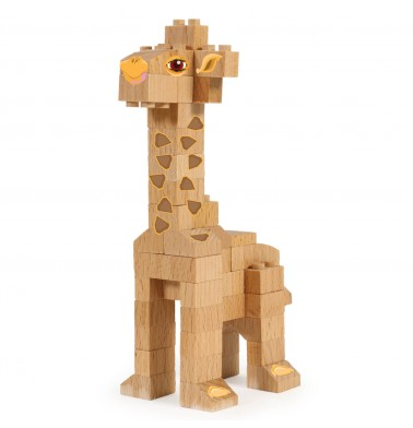 WWF Wood Brick Collectible Figures - Giraffe