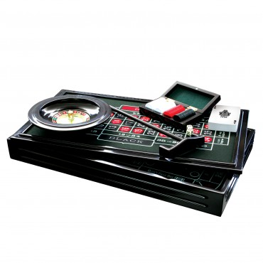ProPoker 4-in-1 Wooden Casino Set