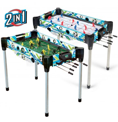 "36"" (92cm) 2-in-1 Rod Football (Foosball/Soccer) & Hockey Table"