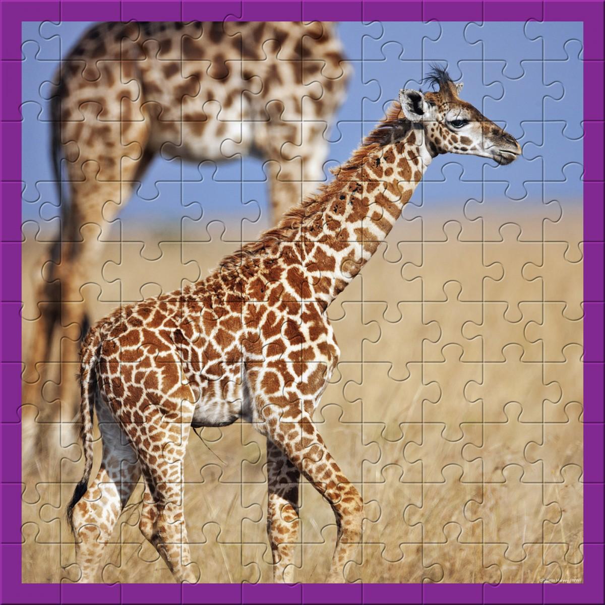 Wwf Animal 100 Pc Puzzles Baby Giraffe Produkte