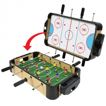 "20"" (50cm) 2-in-1 Games Table (Football/Foosball & Hockey)"