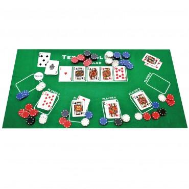 ProPoker 200 Poker Chips With Felt Mat & DVD
