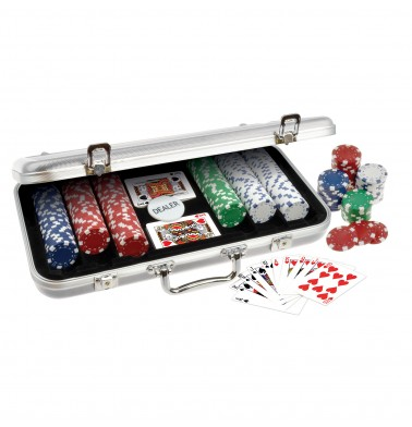 ProPoker 300 11.5g  Poker Chips In Stunning Silver Aluminum Case with DVD