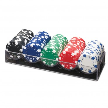 ProPoker 100 11.5G Poker Chips on Plastic Tray