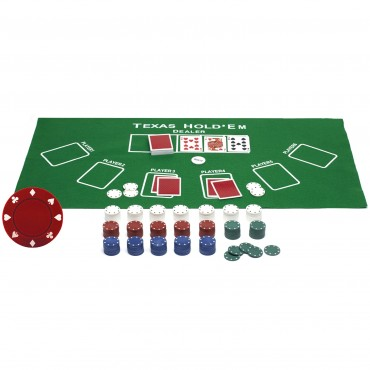 ProPoker 300 Poker Chips With Felt Mat & DVD