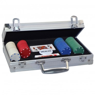 ProPoker 200 Poker Chips In Aluminum Case with DVD