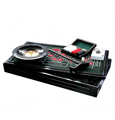 ProPoker 4-in-1 Wooden Casino Set
