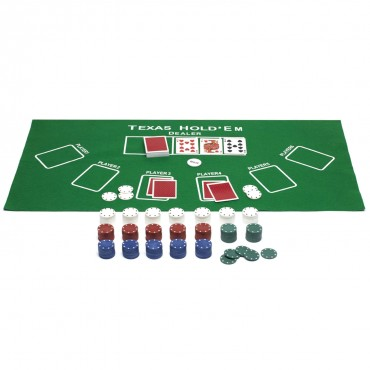 ProPoker 300 Poker Chips With Felt Mat