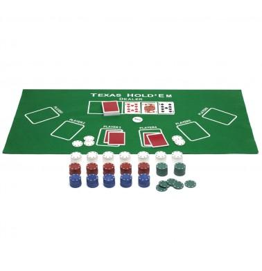 ProPoker 300 Poker Chips With Felt Mat
